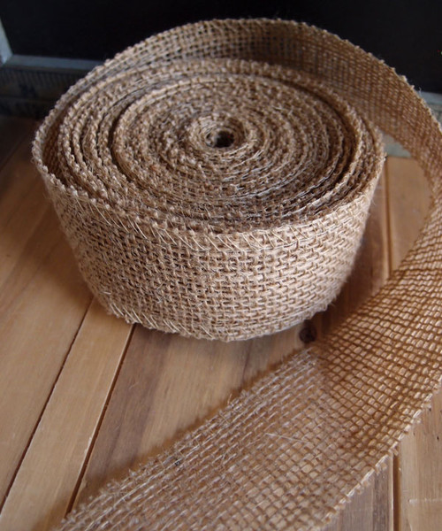 "2"" x 10Y Natural Burlap Jute Ribbon"