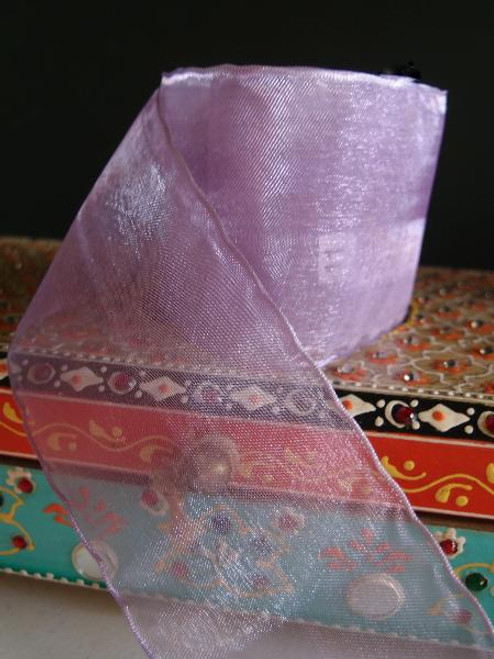 Lavender Sheer Ribbon with Wired Edge (2 sizes)