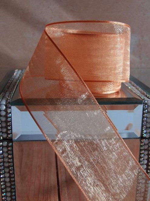 Copper Sheer Ribbon with Wired Edge (1 size)