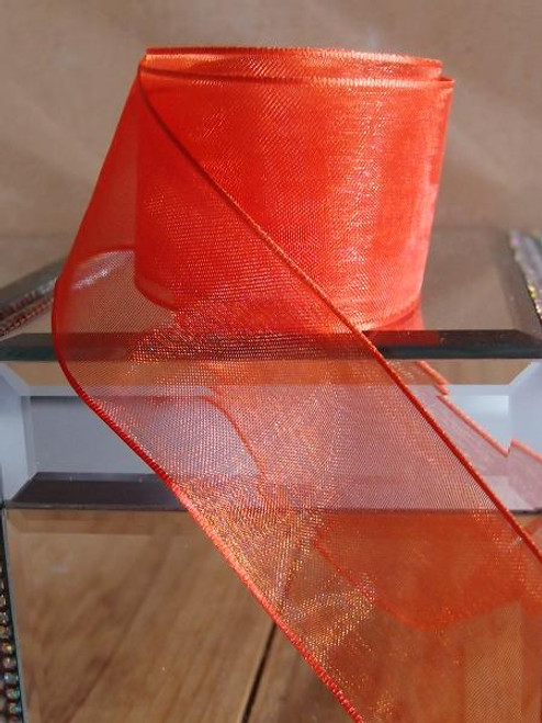 Autumn Sheer Ribbon with Wired Edge (2 sizes)