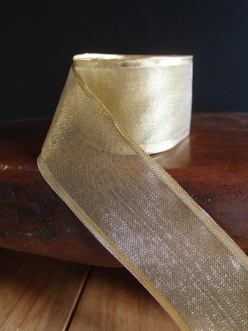 Gold Bold Edge w/Wire Metallic Ribbon (4 sizes)