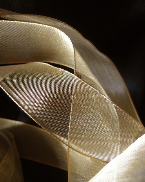 Plain Gold Metallic Wired Ribbon (4 sizes)