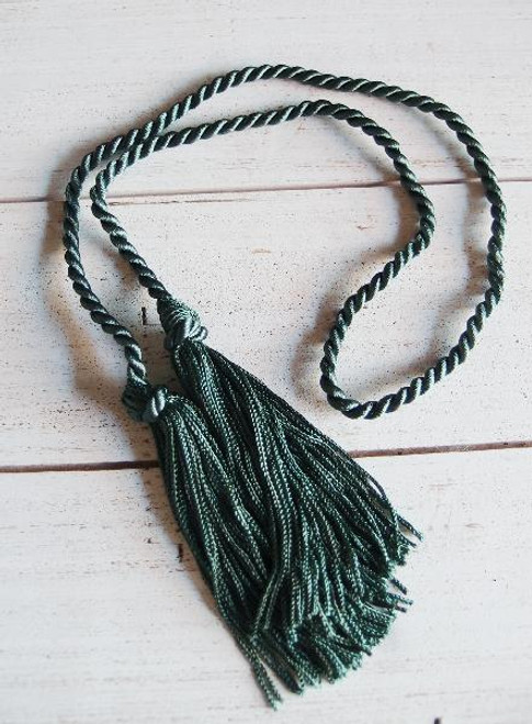 Hunter Green Tassels 26""