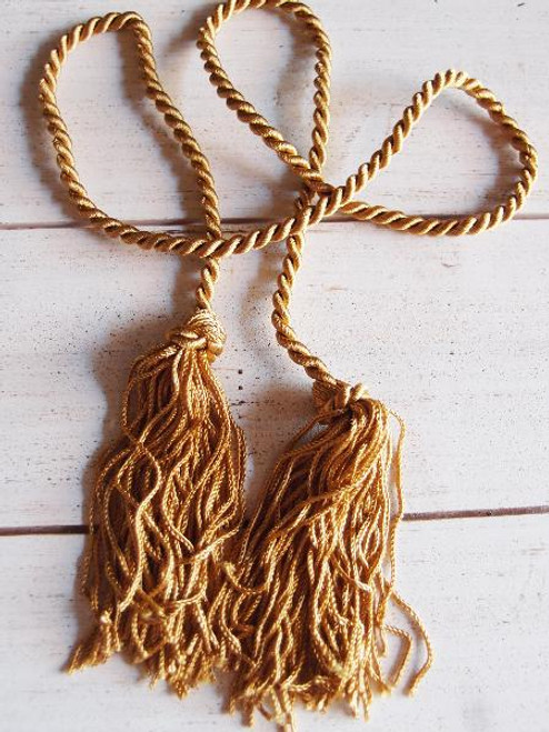 """Gold Tassels 26"""""""