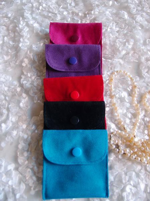 3 x 3 inches Roseberry Velvet Flapover Jewelry Pouch with Snap Fastener J134-09, Wholesale Velvet Jewelry Bags | Packaging Decor, Gift Packaging