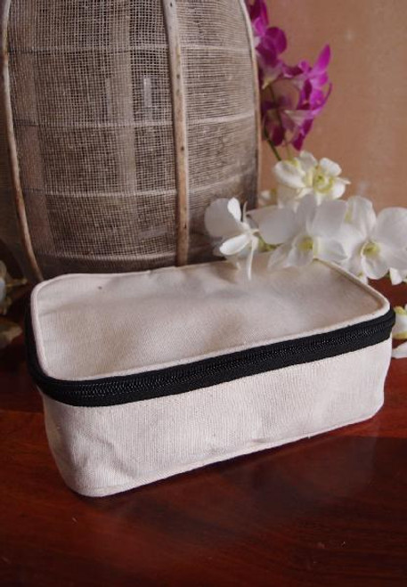 Cotton Canvas Travel Kit Bag Dopp Kit