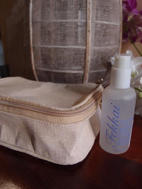 Jute Blend Travel Kit Bag Dopp Kit
