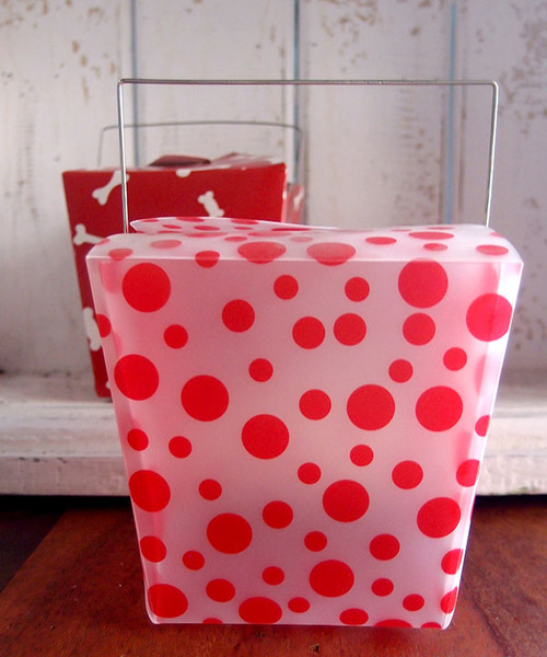 Red Polka Dot Take Out Box (2 sizes)
