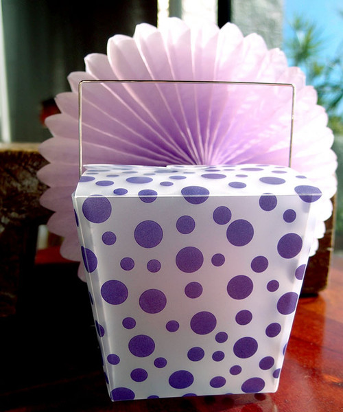 Purple Polka Dot Take Out Box (2 sizes)