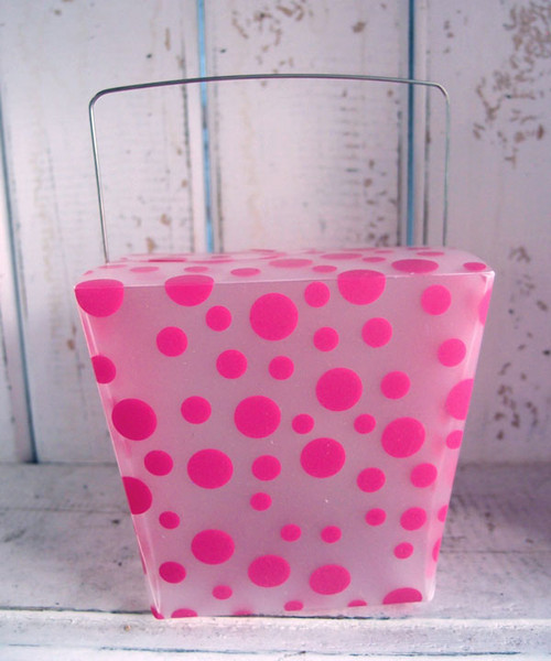 Hot Pink Polka Dot Take Out Box (2 sizes)
