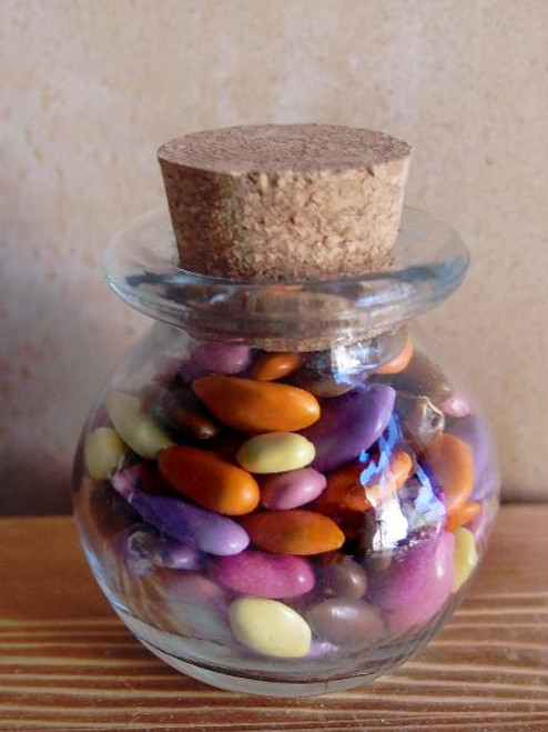 Cork Top Glass Jar Bulb