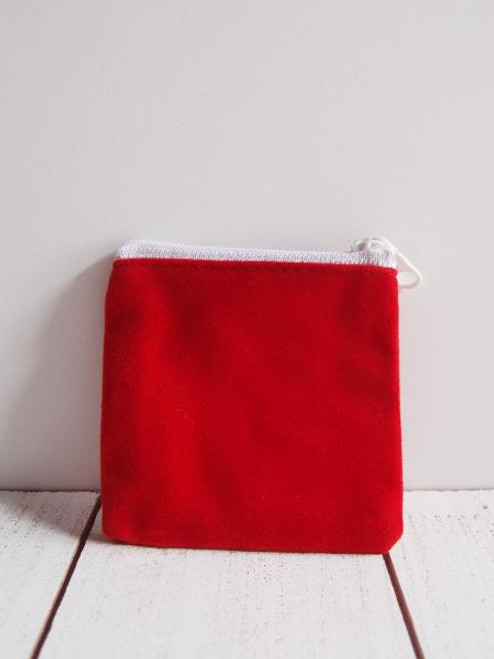 "Red Velvet Zippered Bag 3 1/2"" x 3"""