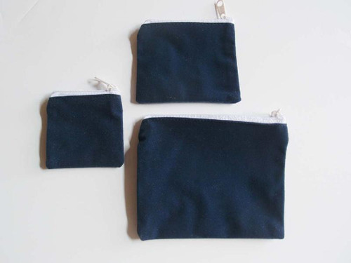 "Blue Velvet Zippered Bag 3 1/2"" x 3"""