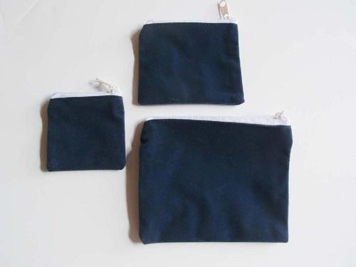 """Blue Velvet Zippered Bag 2 1/2"""" x 2 1/2"""""""
