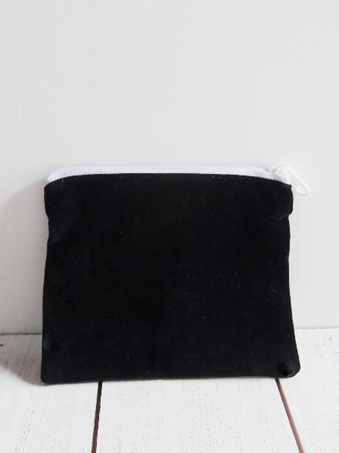 """Black Velvet Zippered Bag 5"""" x 4"""""""