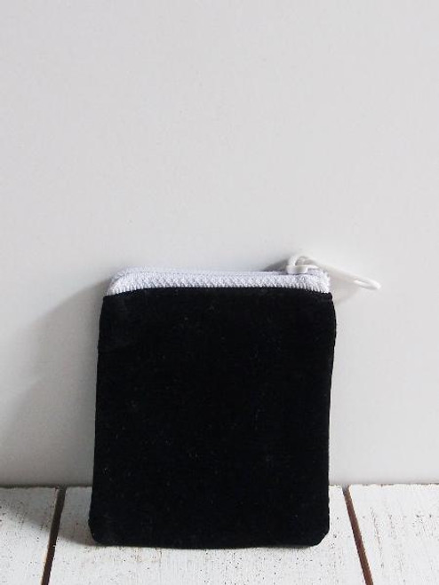 Black Velvet Zippered Bag 2 1/2 x 2 1/2 inches, Cosmetic Bags, Wholesale Zipper Bags  (J130-39) | Packaging Decor