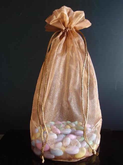 Copper Round Gusset Organza Bag