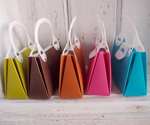 Purple Handbag Favor Box