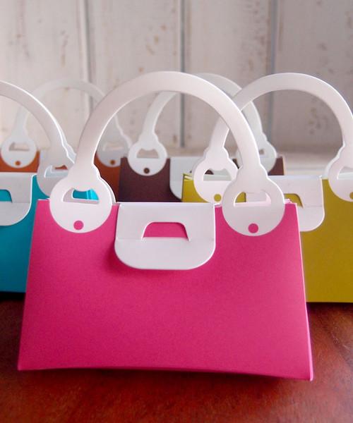 Hot Pink Handbag Favor Box