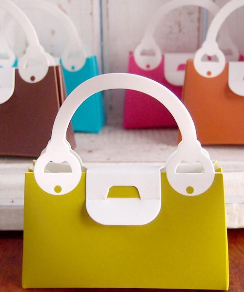 Green Willow Handbag Favor Box