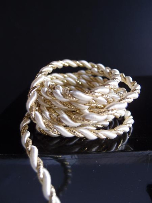 White & Gold Rope 5.5mm x 10Y