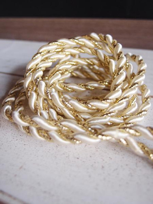 Ivory & Gold Rope 5.5mm x 10Y