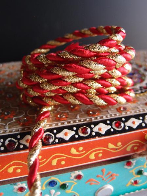 Red & Gold Rope 5.5mm x 10Y