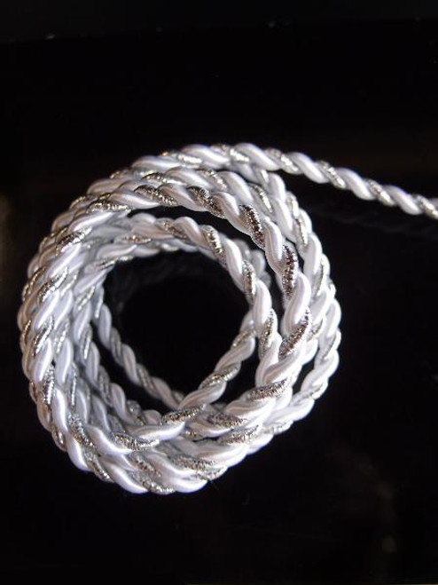 White & Silver Rope 5.5mm x 10Y