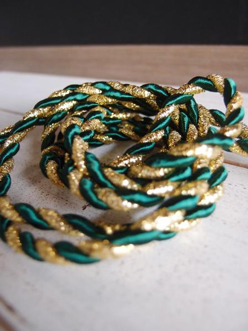 Hunter Green & Gold Rope 5.5mm x 10Y