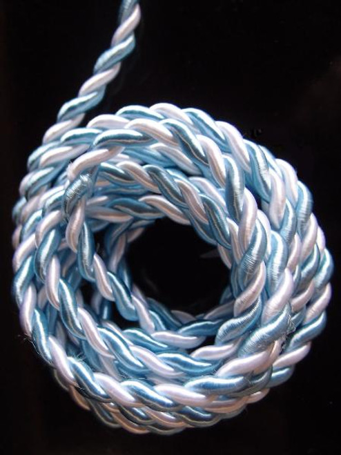 White & Blue Rope 5.5mm x 10Y