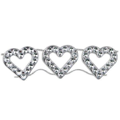 "Faux Diamond Trim with Hearts 3/4""x10Y"