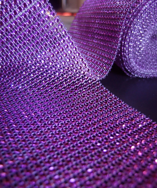 Fuchsia Diamond Wrap with Reflective Impressions