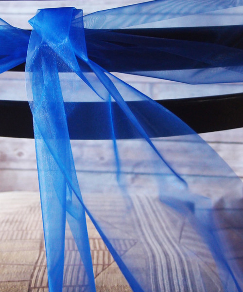 Royal Blue Organza Roll 6""
