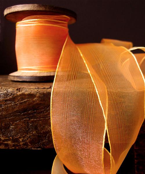Orange/Yellow Two Tone Iridescent Ribbon
