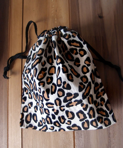 Leopard Print Cotton Bag (3 sizes)