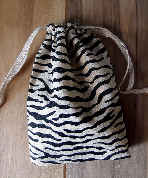 Zebra Print Cotton Bag (3 sizes)