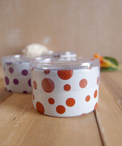 "2""dia. x 1""H Cylinder Box-Tiger Lily Dots"