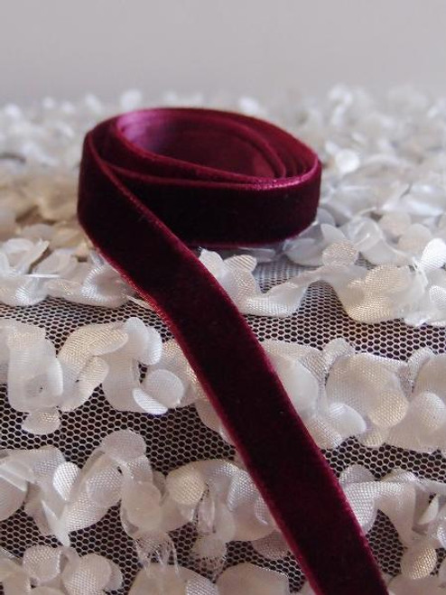Burgundy Velvet Ribbon (2 sizes)