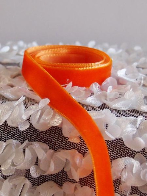 Orange Velvet Ribbon (2 sizes)