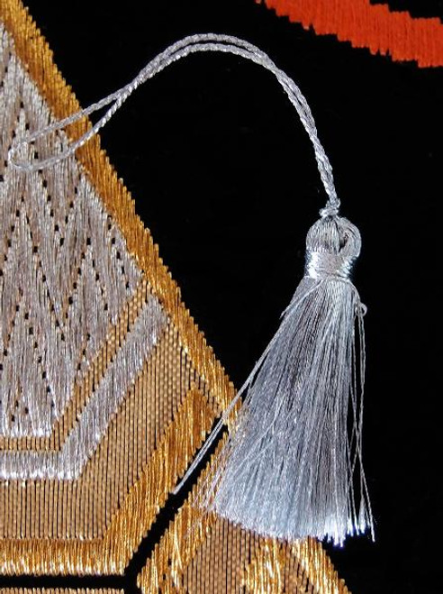 Silver Metallic Mini Tassels 1""