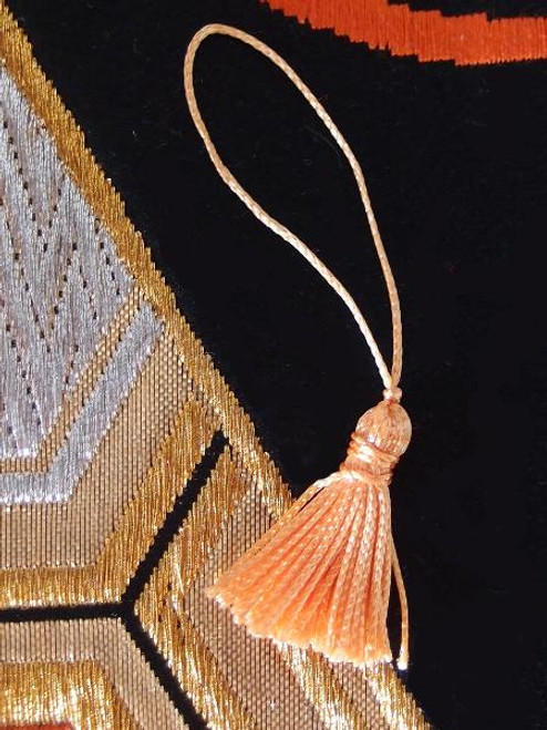 Orange Mini Tassels 1""