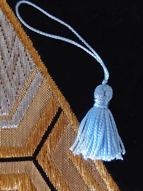 Light Blue  Mini Tassels 1""