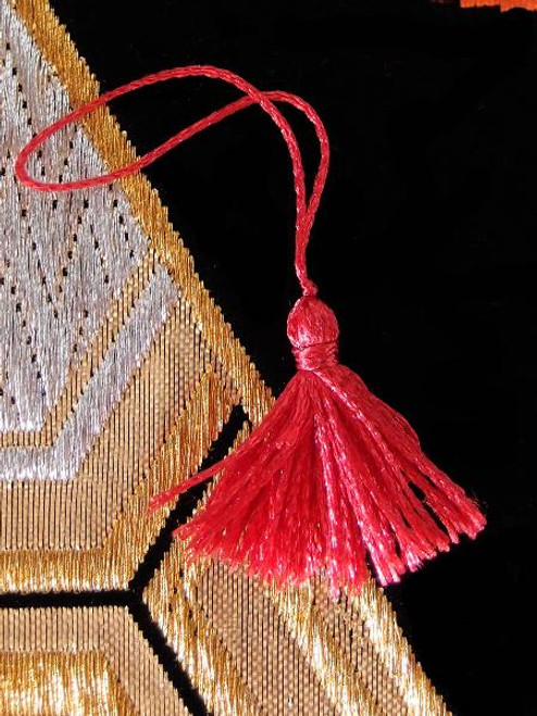 Red Mini Tassels 1""