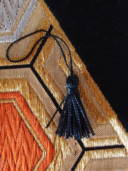 Black Mini Tassels 1""