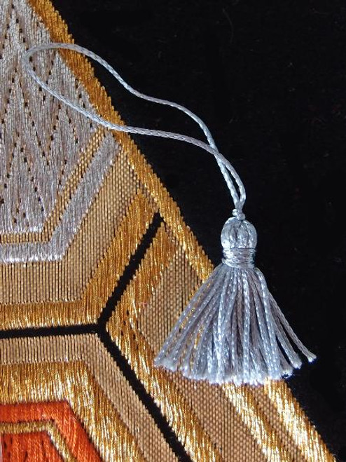 Silver Gray Mini Tassels 1""