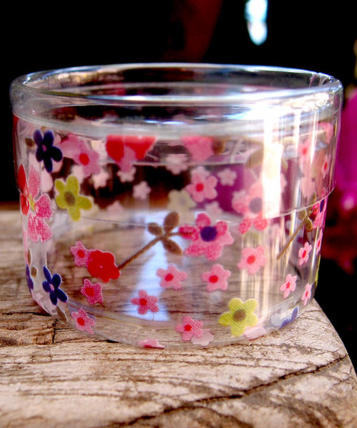 "2""dia. x 1""H Cylinder Box-Pink Floral"