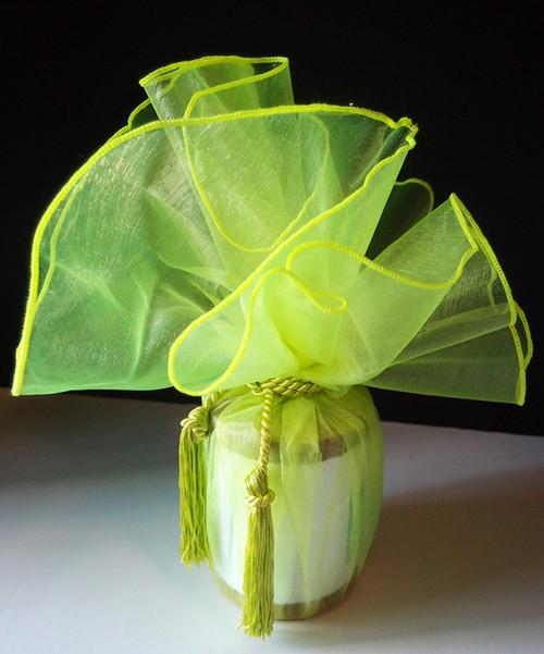 """Neon Green Wrapper w/Tassel 28"""" dia."""