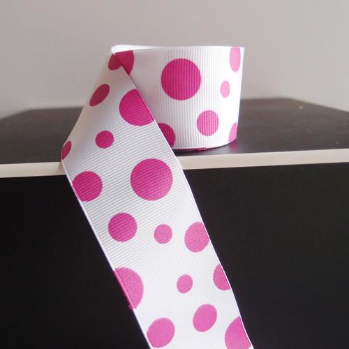 Purple Polka Dot Grosgrain Ribbon