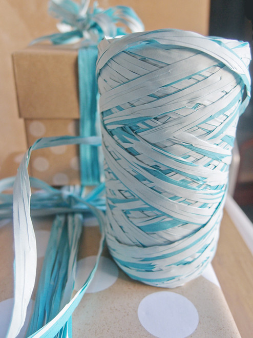 Upscale Raffia Light Blue