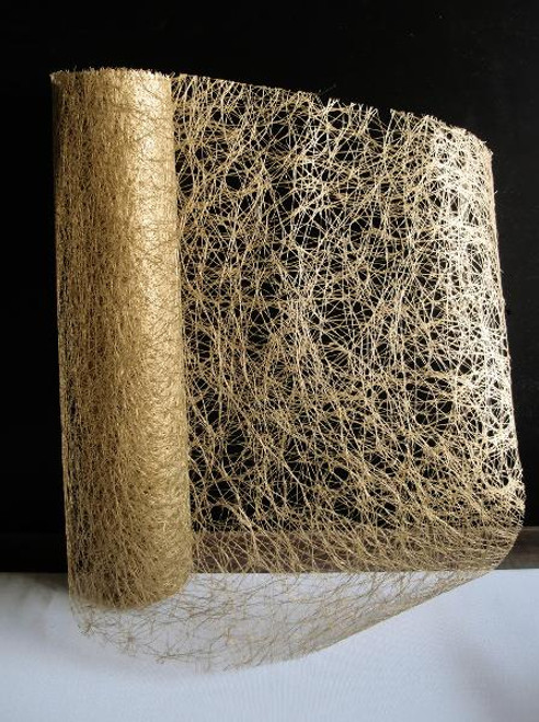 Metallic Gold Faux Sisal Roll 14""